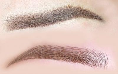 Øjenbryn med hårstrå eller skygge?